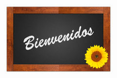 Bienvenidos, welcome sign Royalty Free Stock Image