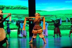  bienvenu de show†de scénarios d'échelle de Tibétain danse-grand le  de legend†de route Photographie stock
