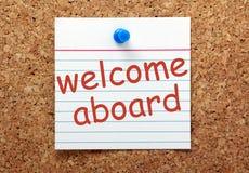 Bienvenue à bord Photo stock