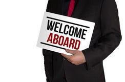 Bienvenue à bord image libre de droits