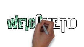Bienvenue à? (illustrateur ENV d'Adobe) banque de vidéos