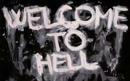 Bienvenue à l'enfer Photographie stock libre de droits