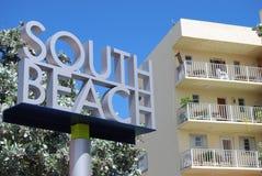Bienvenue à la plage du sud Photo stock