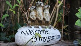 Bienvenue à mon jardin Photos libres de droits
