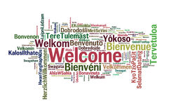 Bienvenue Photos stock