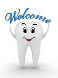 Bienvenue au dentiste Images stock