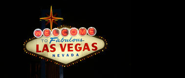 Bienvenue au signe de Las Vegas Photo libre de droits