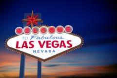 Bienvenue au signe de Las Vegas Photographie stock libre de droits