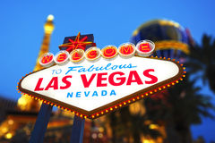 Bienvenue au signe de Las Vegas Photos stock