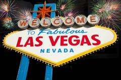 Bienvenue au signe de Las Vegas Image libre de droits