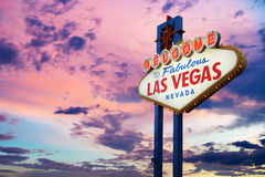 Bienvenue au signe de Las Vegas Photo stock