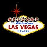 Bienvenue au signe de Las Vegas Image stock