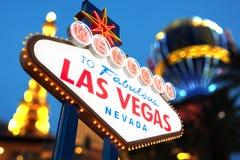 Bienvenue au signe de Las Vegas Photographie stock