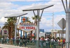 Bienvenue au signe de Las Vegas Photos stock