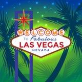 Bienvenue au signe de Las Vegas illustration libre de droits