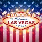 Bienvenue au signe de Las Vegas illustration stock
