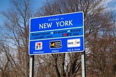 Bienvenue au signe de New York Images stock