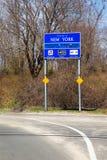 Bienvenue au signe de New York Image stock