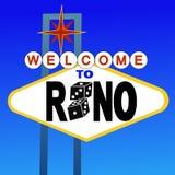 Bienvenue au signe de Reno illustration libre de droits