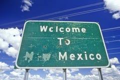 Bienvenue au signe du Mexique Photographie stock libre de droits
