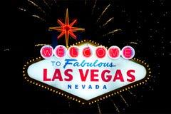 Bienvenue au signe fabuleux de Las Vegas Photo libre de droits