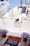 Bienvenue au yacht Images stock