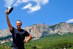 Bienvenue aux montagnes Photos stock