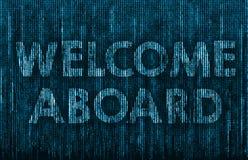 Bienvenue ? bord illustration de vecteur