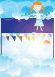 Bienvenue, ciel illustration stock