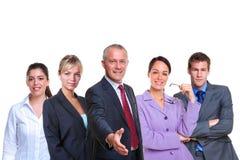 Bienvenue d'équipe d'affaires Photo stock