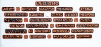 Bienvenue dans beaucoup de langages Photos stock