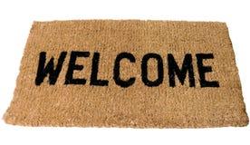 bienvenue de couvre-tapis Photo stock