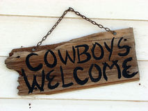 Bienvenue de cowboys Images libres de droits