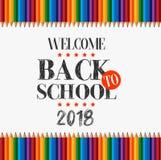 Bienvenue de nouveau à l'école 2018 illustration de vecteur