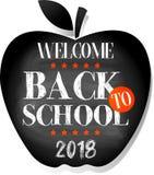 Bienvenue de nouveau à l'école 2018 illustration stock