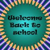 Bienvenue de nouveau à l'école Photos libres de droits