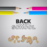 Bienvenue de nouveau à l'école Design de carte d'illustration de vecteur Photographie stock libre de droits
