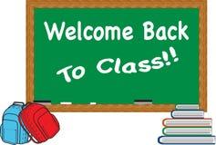 Bienvenue de nouveau à la classe Images stock