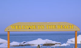 Bienvenue de signe Image stock