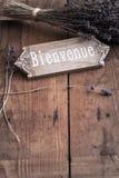 Bienvenue - powitanie Francja Obrazy Royalty Free