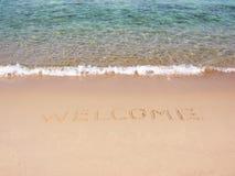 Bienvenue sur la plage Photos stock