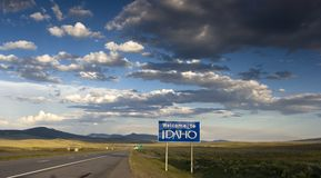 Bienvenue vers l'Idaho Photo stock
