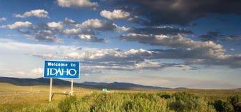 Bienvenue vers l'Idaho Photos stock
