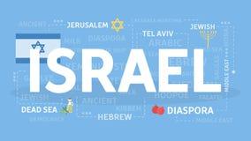 Bienvenue vers l'Israël illustration stock