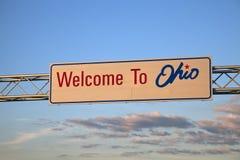 Bienvenue vers l'Ohio Photo stock