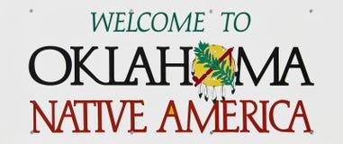Bienvenue vers l'Oklahoma Images stock