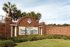 Bienvenue vers la Caroline du Sud photo libre de droits
