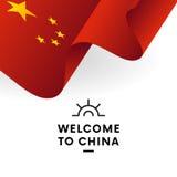 Bienvenue vers la Chine Indicateur de la Chine Conception patriotique Vecteur illustration de vecteur