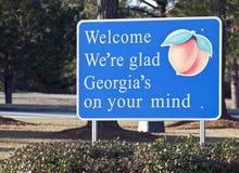 Bienvenue vers la Géorgie Photographie stock libre de droits