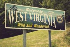 Bienvenue vers la Virginie Occidentale photos libres de droits